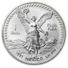1991 1 oz Silver Mexican Libertad Coin - Type 2
