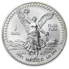 1991 Mexico 1 oz Silver Libertad BU (Type 2) - SKU #58872