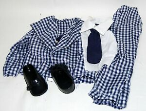 WC Fields Ventriloquist Doll Puppet Clothes and shoes - NEW