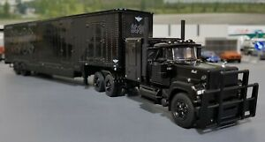 1/64 DCP MACK SUPERLINER AC/DC BACK IN BLACK TRIBUTE TRUCK & TRAILER NEW IN BOX