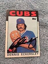 HOF Dennis Eckersley Autograph Signed Topps 1986 Baseball Card FREE FAST SHIP!