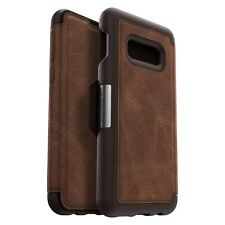 OtterBox Strada Samsung Galaxy S10e Leather Wallet Case Cover Burnt Saddle Brown