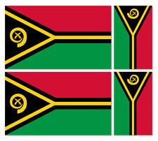 4 x Repubblica di Vanuatu Bandiera Vinile Auto Furgone iPad Laptop Adesivo