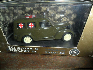 Brumm Fiat 1100 E 1949-1953 Military Ambulance 1/43 Scale Made in Italy in Box