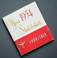 ORIGINAL 1954 STUDEBAKER COMMANDER OWNER'S MANUAL ~ VERY GOOD ~ 40 PAGES ~STCOM