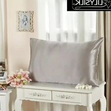 100 Pure Mulberry Silk Pillow Case 19 Momme One Side Silk Pillowcase Silver