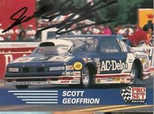 Scott Geoffrion Pro Set 1991 Winston Pro Stock Acdelco Oldsmobile signed card