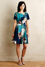 Anthropologie Paeonia Dress Floral Cocktail Evening Wedding Party Summer, Size 4