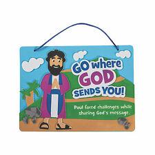 God Sends Paul Sign Craft Kit - Craft Kits - 12 Pieces