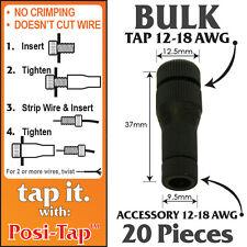 POSI-TAP 12-18 AWG WIRE CONNECTORS, REUSABLE, NO CRIMPING - *BULK* 20 PK