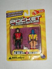 DC Direct Pocket Heroes DR. MID-NITE & THE ATOM MOSC JSA