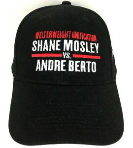 Shane Mosley Andre Berto Cap Boxing Fight Hat Logo Mandalay Bay Baseball Trucker