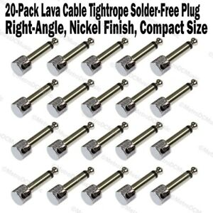 20-Pack Lava Cable Tightrope Solder-Free Right-Angle Plug Patch Solderless NEW