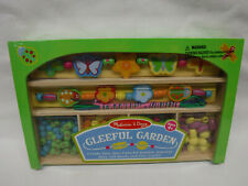Melissa & Doug Gleeful Garden Bead Set, create colorful wooden jewelry ages 4+