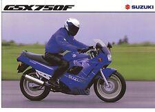 1993 SUZUKI GSX750F 4 page Motorcycle Brochure NCS