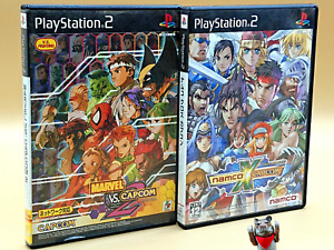 Sony Playstation2 Marvel vs Capcom2 Namco x Capcom Fighting Game Set PS2 Japan
