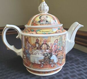 Vintage Sadler Teapot A Christmas Carol - Charles Dickens Made in England 1995