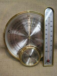 Vintage Linden Gauges for Weather Station – Hygrometer/Barometer/Thermometer