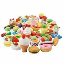 BonBon Kids Realistic Looking Food Eraser Set, Pack of 60