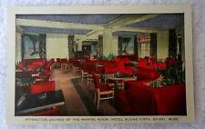 POSTCARD LOUNGE THE MARINE ROOM HOTEL BUENA VISTA BILOXI MISSISSIPPI #pq9b