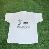 Vintage 80s Shirt Tennis NJCAA Tyler, Texas Single Stitch Size Medium