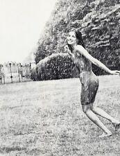 1966 Vintage Rain Wet SEXY FEMALE Fashion Woman Photo Art By WINGATE PAINE 11x14