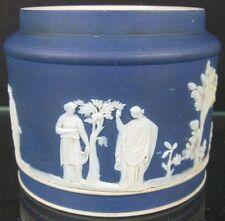 Antique Blue & White Jasperware Wedgwood Pot Bottom