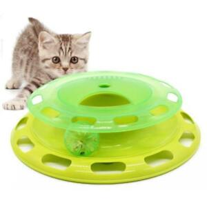 Pet Cat Crazy Chasing Toy Scratching Toy Scratcher Board Ball Tracking Toy