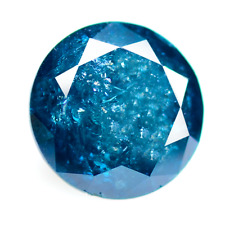 3.06 Cts Attractive Blue Round Sparking Lusterous  Natural Blue Diamond