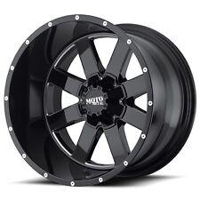 (1) 17 inch MO962 17x10 Rim Black Milled 5x127 5x5.5 -24mm MO96271035324N