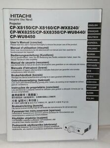 HITACHI Projector CP-X8150/CP-X8160/CP-WX8240/CP-WX8255/CP-SX8350 User Manual