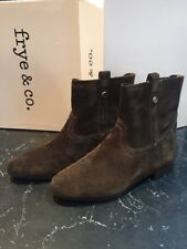 NEW Frye & Co Womens 9M Sarah Shortie Military Suede Pull On Ankle Boots