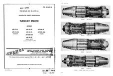 General Electric J47 Jet engine parts manual 1940's 50's rare detail archive