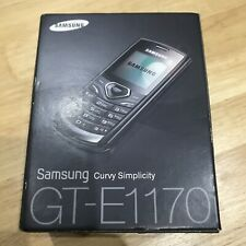 100% New Samsung GT-E1170i Orange Mobile Phone Rare Vintage 2G GSM Black Handy