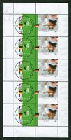 Bund 5 x 2258 - 2259 KB postfrisch Motiv Fußball 2002 kompletter Kleinbogen