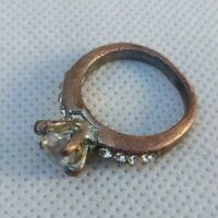 Rare Ancient Old Ring Bronze Roman Authentic With White Stones Artifact Amazing