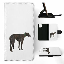 APPLE iPHONE FLIP LEATHER CASE WALLET COVER|GREYHOUND DOG 4