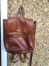 East west London real leather large 2 compartment backpack