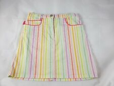 Girls Moschino Bambino White Bright Rainbow Striped Skirt Size 5 104 110 EUC