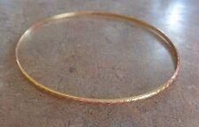 "18k yellow gold textured bangle bracelet 2.5"" dia. 4.9 grams"
