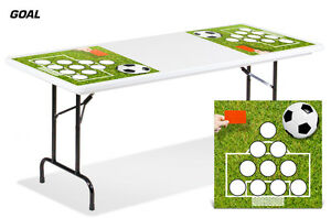 Universal Boardgame Folding Table Top Games Decal Sticker Beer Pong Mats GOAL