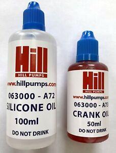 Hill Pumps EC-3000 Oil Kit - Silicone Oil & Crank Oil - Z3000-002