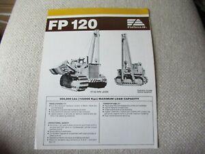 Allis-Chalmers ALLIS-FIAT FP120 pipe layer brochure