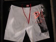 NEW Size 34 ECKO UNLTD Swimsuit Board Shorts SOLID WHITE with RED BLACK GREY $48
