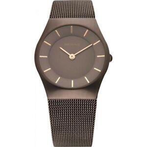 Bering Ladies Watch Wristwatch Slim Classic - 11930-105 Meshband