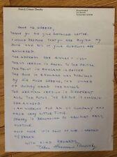 RARE SIGNED LETTER by PETER-ERICH CREMER * German U-Boat Commander*Kriegsmarine
