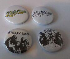 4 Steely Dan button badges 25mm My Old School Do It Again Peg Black Cow Rock