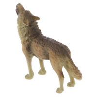 Realistic Howling Wolf Wild Zoo Animal Model Figure Figurine Kids Toy Gift