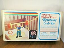 Vintage Dolly Toy Balloon Vendor Revolving Crib Toy Clown Animals Usa Model 900