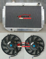 3 ROW Aluminum Radiator + Fans for Holden Kingswood HQ HJ HX HZ 253 308 V8 AT/MT